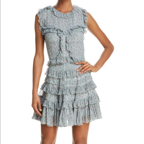 e5bde1a5447f4 Rebecca Taylor Sleeveless Vine Ruffle Dress (Mint)